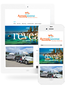 Action Marine - Website Design by Red Cherry