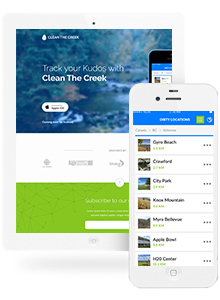 Clean the Creek - App Design by Red Cherry