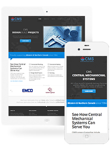 Central Mechanical Systems - Website Design by Red Cherry