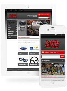 Dirty Diesel Customs - Website Design by Red Cherry
