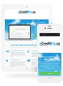 E Credit Fix - Website Design by Red Cherry