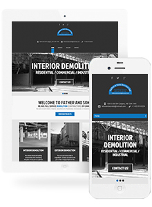 Father & Sons Demolition - Website Design by Red Cherry