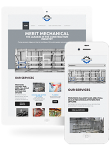 Merit Mechanical - Website Design by Red Cherry