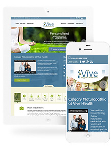 Vive Health - Website Design by Red Cherry