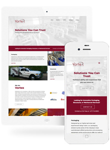Vortex Production Services - Website Design by Red Cherry